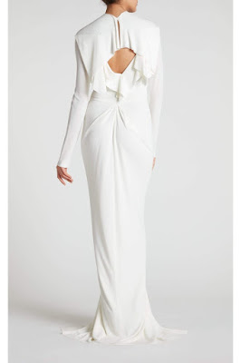K'Mich Weddings - wedding planning - wedding dresses - white ruffle crepe dress with keyhole in back - roland mouret