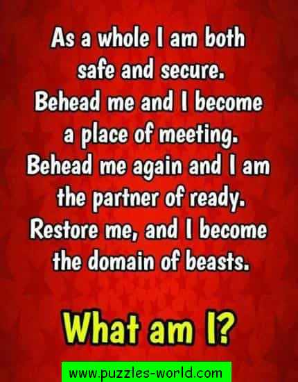 As a whole I am both safe and secure. What am I ?
