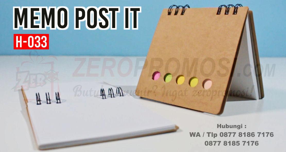 Memo Post It H-033 memo notes unik atau bisa disebut juga Barang Promosi Memo Post-It H-033, Memo Pad (BLOCK NOTE) H033, Blocknote promosi, Memo Recycle H-033, memo souvenir pernikahan termurah di Tangerang