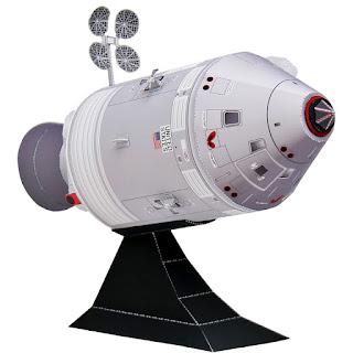 DIY Papercraft Rocket Apollo Model Sci-fi Kerajinan Mainan 3D