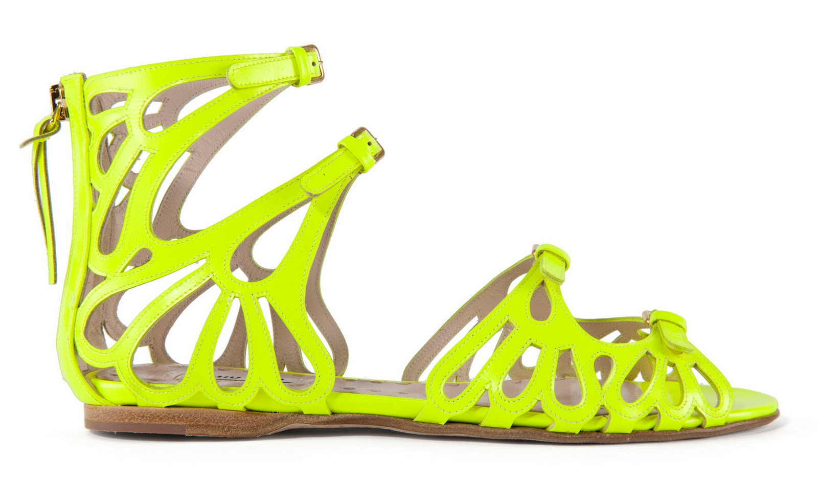 Fluorescent Sandals are hot !!   style caramel