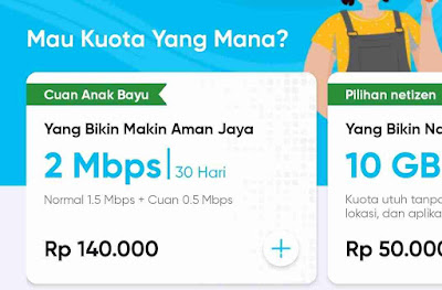 Harga Paket Internet byU