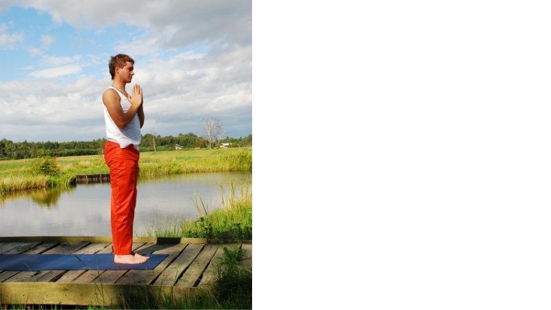1. Prayer posture / Namaskarasana / Pranamasana