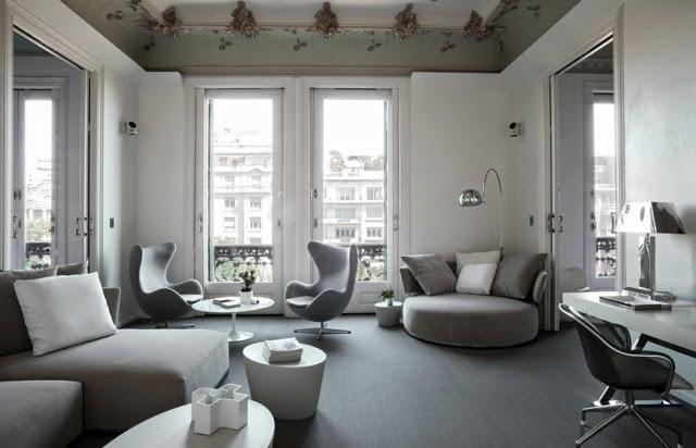 sala blanco gris
