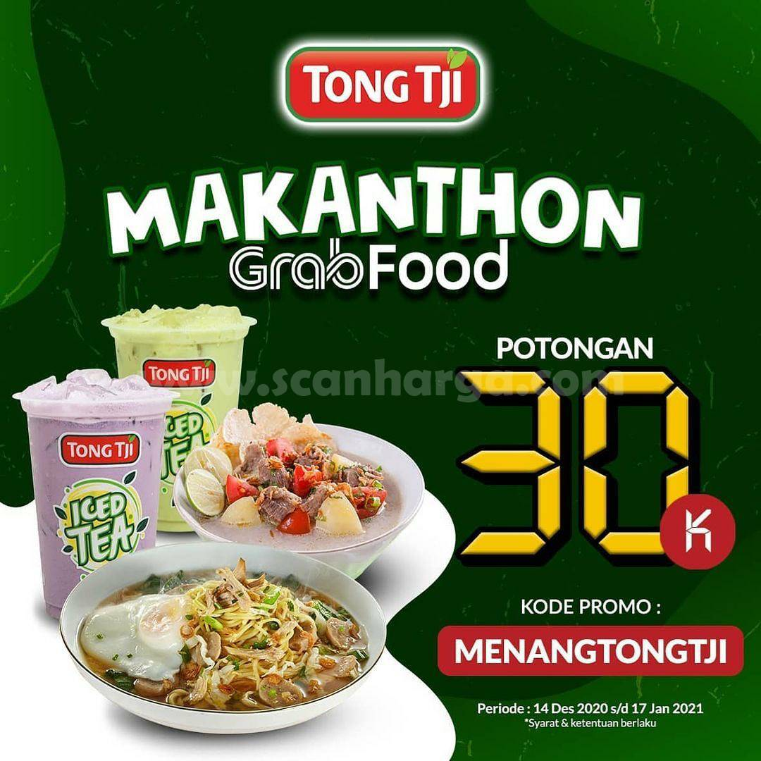 TONG TJI Promo MAKANTHON Grabfood Diskon hingga Rp 30.000