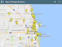 Chicago Museums map