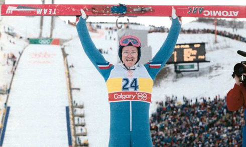 Eddie the Eagle Calgary Olympics 1988