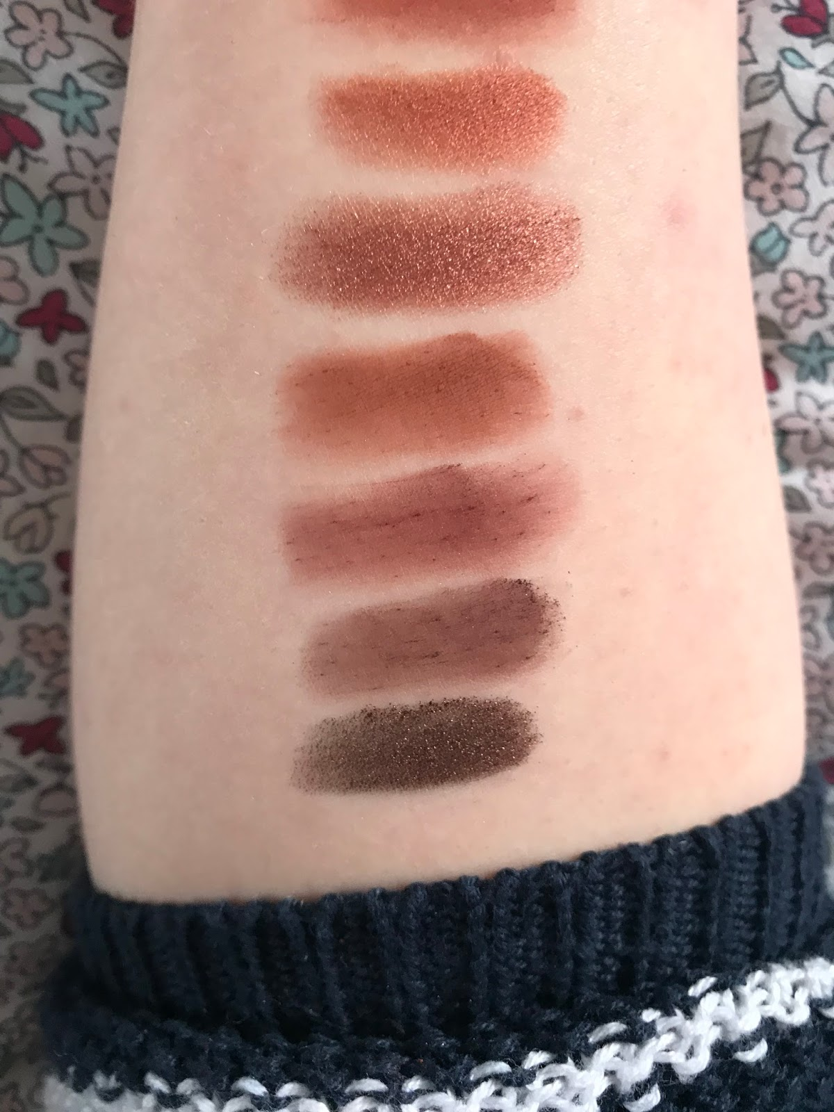 swatches of urban decay naked heat