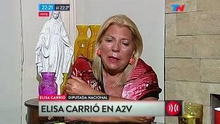 subió la apuesta la dirigente de la Coalición Cívica respecto al ex candidato a presidente del #FpV. Fue entrevistada en el programa A Dos Voces, en Todo Noticias