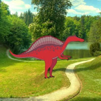 Play WowEscape-Red Dino Forest Escape
