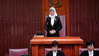 Madam Halimah Yacob was elected Speaker of Parliament on 14 January 2013) by MPs.