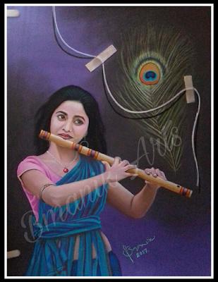 pastel work krishna sakhi - bmanikarts.in