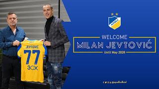Συμφωνία με τον Ερυθρό Αστέρα για δανεισμό του ποδοσφαιριστή Milan Jevtović