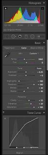 Adobe Lightroom color correction panel