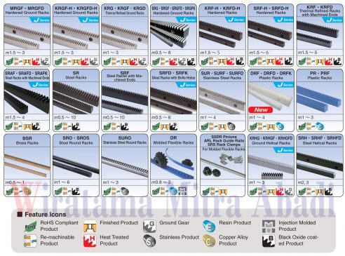KHK Pinion Rack gear