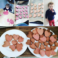 home made love heart biscuits