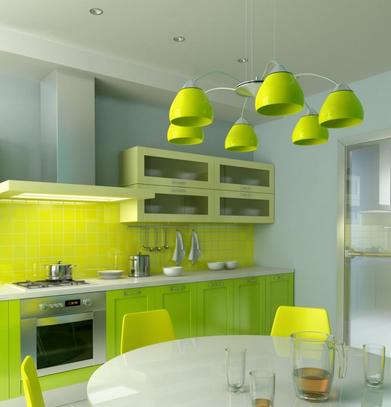5 Inspirasi Desain Dapur Berwarna Hijau yang Hangat dan