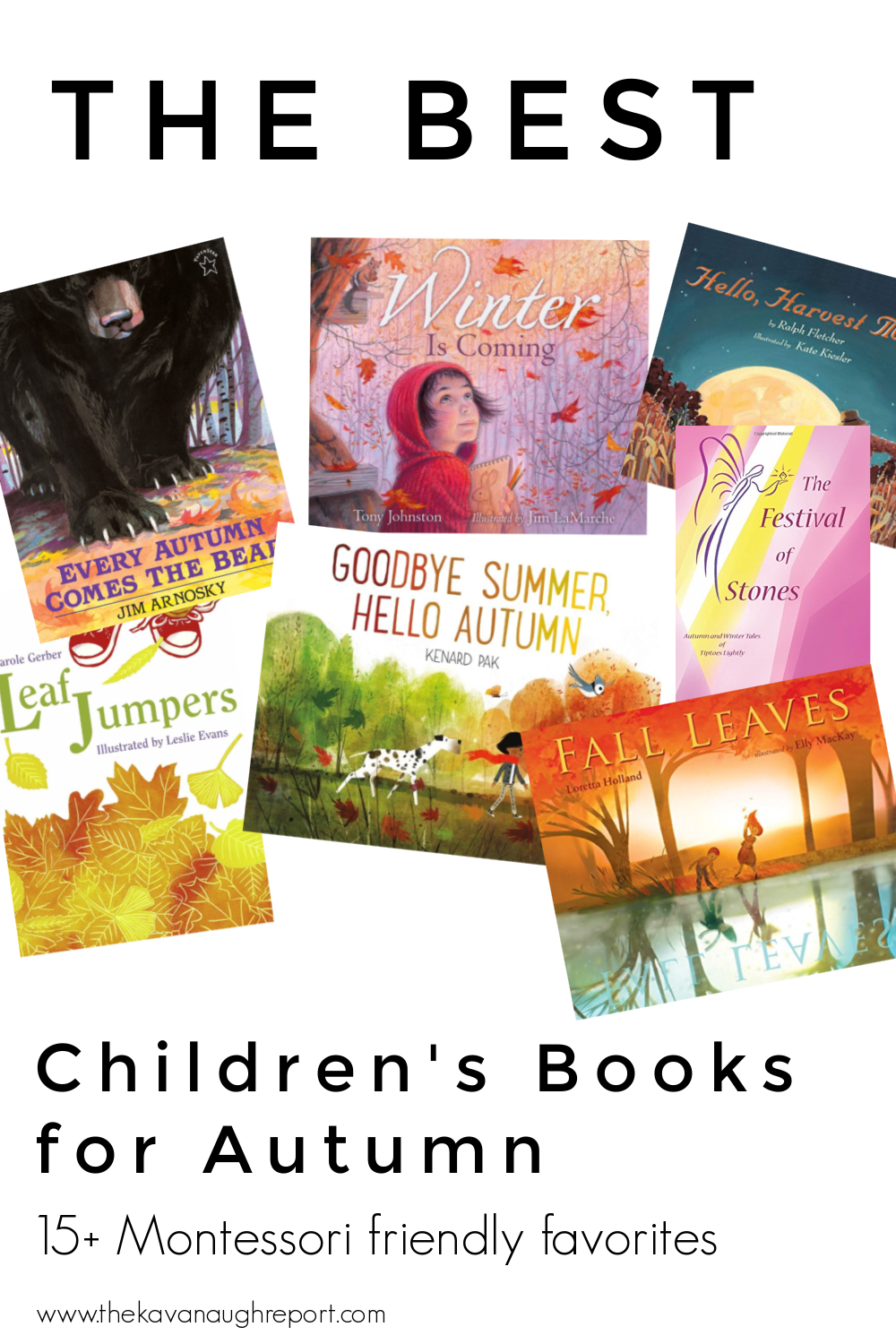 Montessori friendly books for toddlers and preschoolers for autumn. These books are great additions to celebrate the arrival of fall.