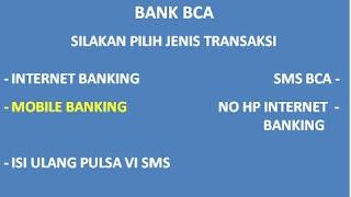Cara Daftar Internet Banking BCA Melalui Internet