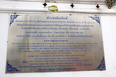 Precauzioni a Bangkok - Thailandia Bangkok Truffe