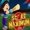 Score Maximum cricket game