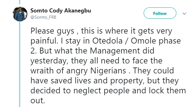 Another eyewitness shares heartbreaking details of Lagos tanker explosion , alleges Omole estate management locked people out instead of helping