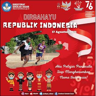 Twibbon Dirgahayu Republik Indonesia 17 Agustus 2021 Direktorat  SD