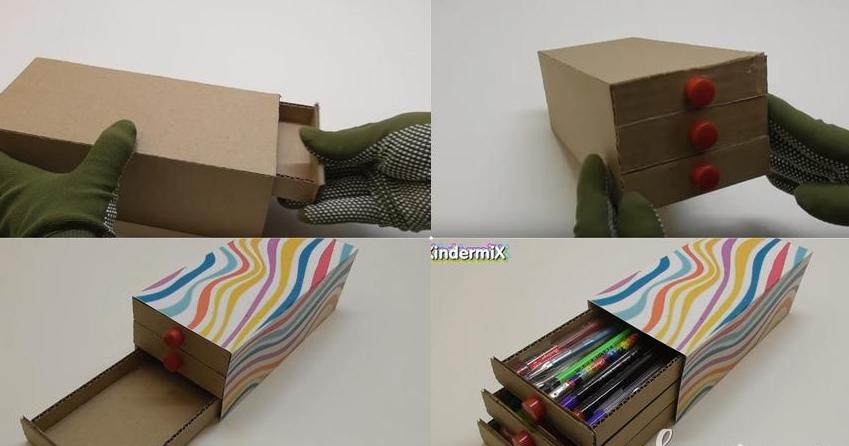 Cara Membuat Tempat Tisu Dari Kardus Sepatu Dan Kertas ...