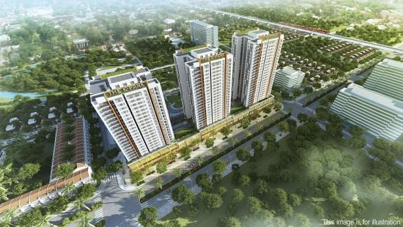 The K – Park gồm 3 tòa căn hộ cao lần lượt 23, 25 và 27 tầng