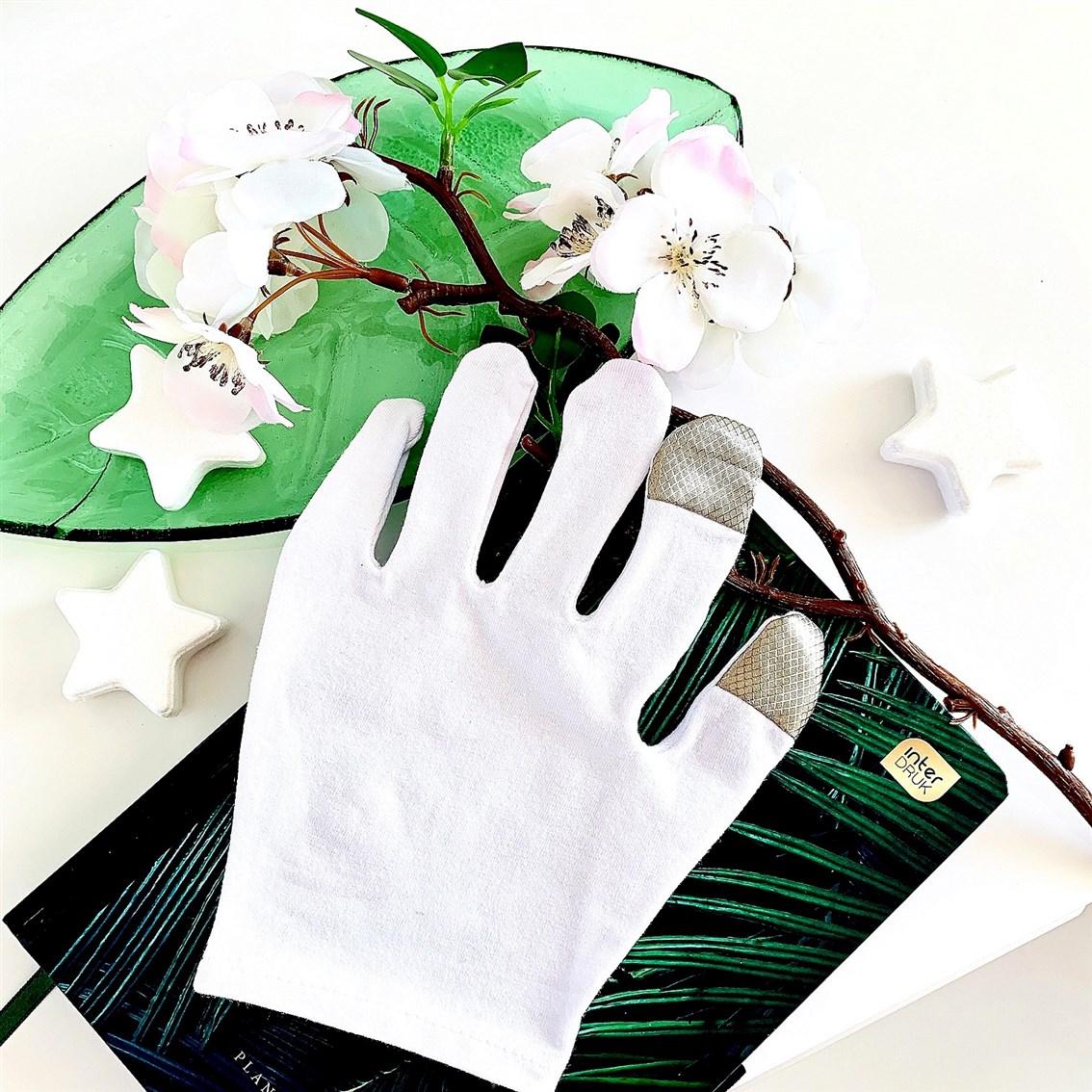 rękawiczki dotykowe do nawilżania dłoni