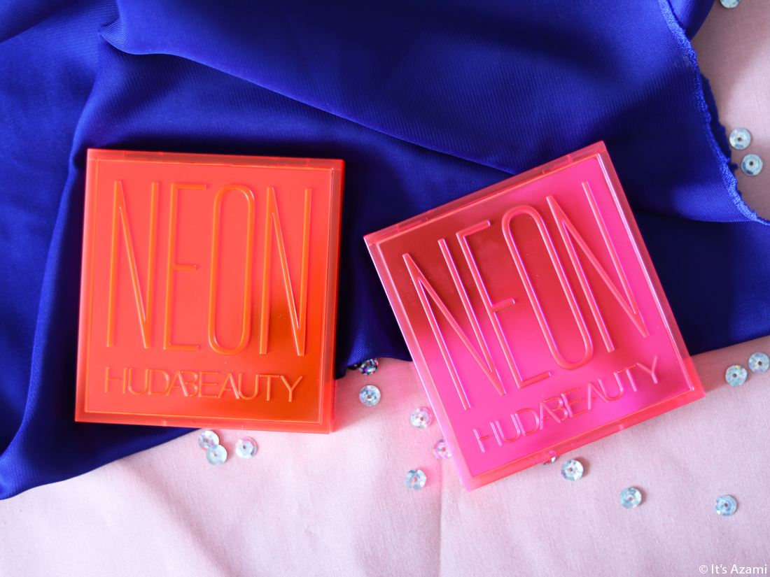 Huda Beauty | Neon Obsessions Eyeshadow Palettes Review & Swatches - It's Azami Paris London Beauty Blogger Youtuber Makeup Artist Fashion - Avis