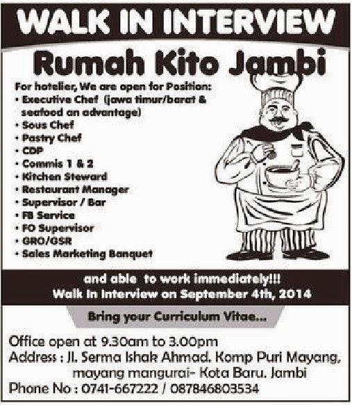 Loker Jambi Lowongan Kerja Bp Indonesia Loker Cpns Bumn Kerja Palembang Rumah Kito Jambi Walk In Interview Rumah Kito Jambi