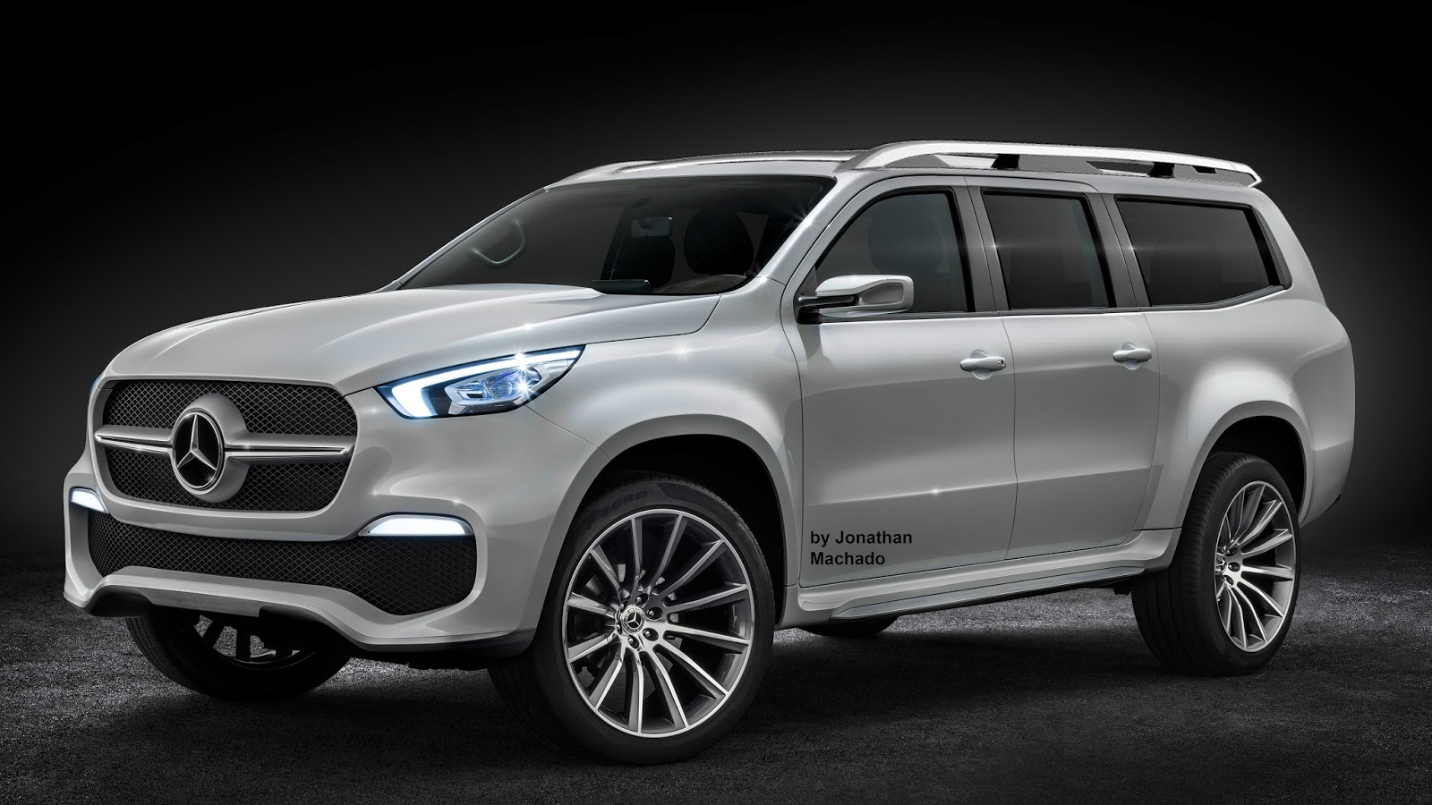 Photoshop 2016 mercedes benz x class suv concept mbpickup for Mercedes benz concept suv