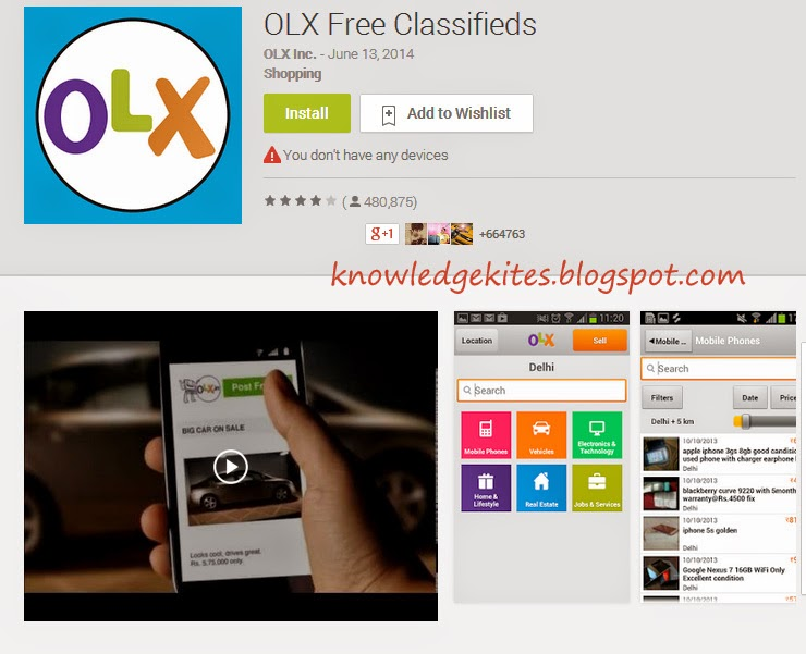 OLX Apps - Best Android Apps