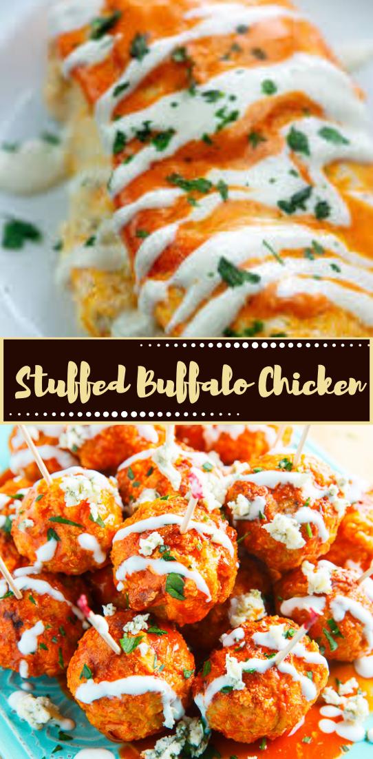 Stuffed Buffalo Chicken #dinnerrecipe #food #amazingrecipe #easyrecipe