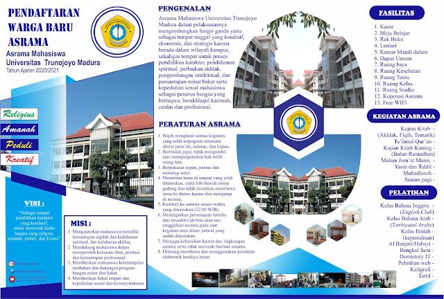 Pendaftaran Warga Baru Asrama Universitas Trunojoyo (UTM) 2020