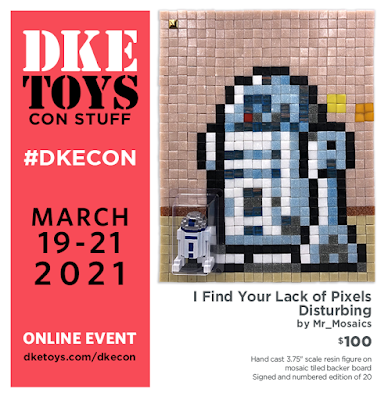 """DKECON 2021 Exclusive Star Wars """"I Find Your Lack of Pixels Disturbing"""" Resin Figure by Mr Mosaics x DKE Toys"""