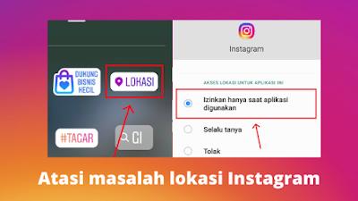 Cara mengatasi Instagram tidak dapat memuat lokasi
