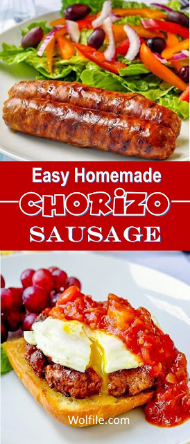 Easy Homemade Chorizo Sausage Recipe #Sausage