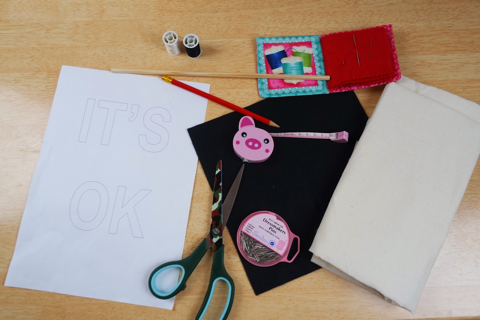 materials to make an it's ok banner
