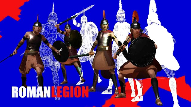 Free Iclone Character - ROMAN LEGION with 4 Level of Details
