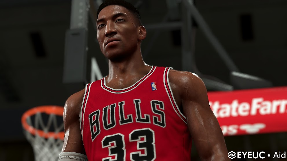 Scottie Pippen Cyberface and Body Model By Aid [FOR 2K21]