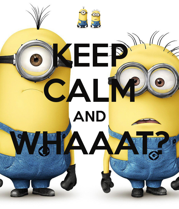 keep calm minion