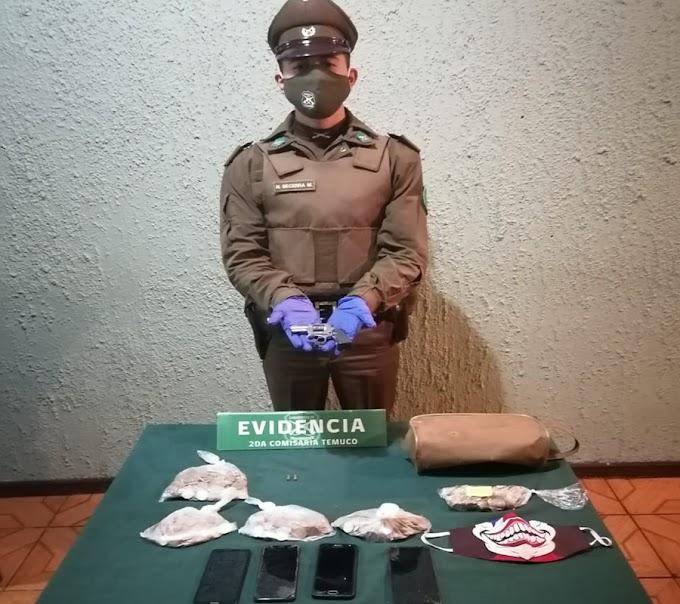 Detienen a tres sujetos por robo con intimidación a camión repartidor en Temuco