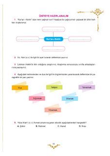 5. Sınıf Kuranı Kerim Ders Kitabı Cevapları Mevsim Yayınları Sayfa 11