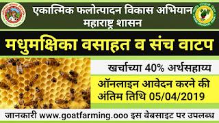 """Bee Farming Scheme 2019"" By Maharashtra Government (Hindi)"