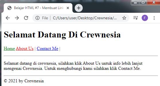 Crewnesia - Membuat Link Pada HTML