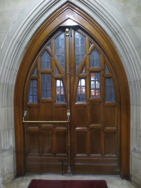 Knox Presbyterian church door, downtown Ottawa, - photo Kristina Roudiy