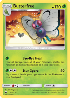 Butterfree Burning Shadows Pokemon Card
