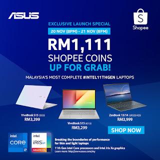 ASUS #Intel11thGen Laptop Launch - Exclusive Shopee Promo